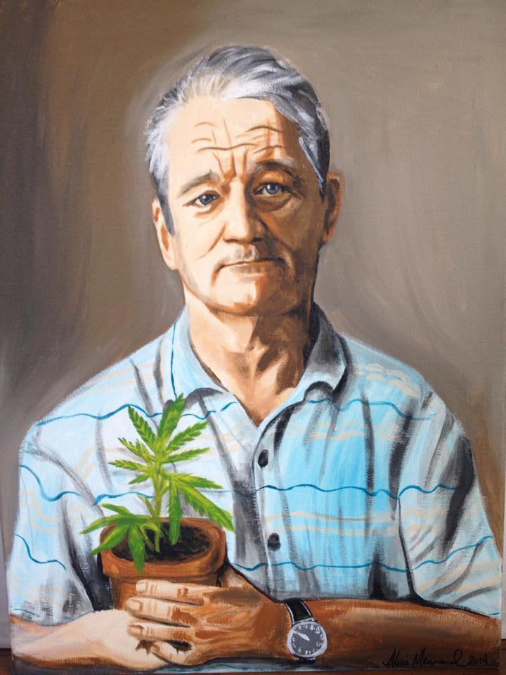 Bill Murray with Plant